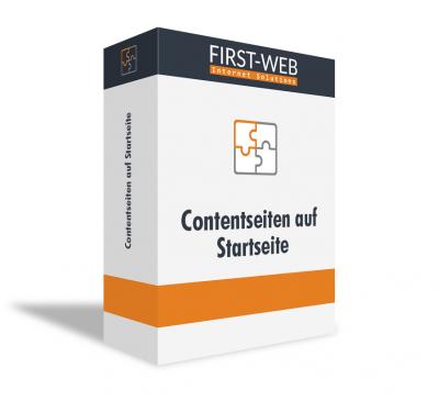 Contentseiten auf Startseite für Modified Shopsysteme